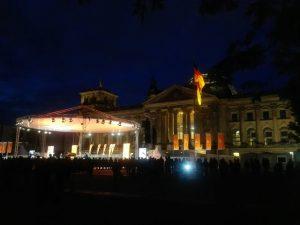 Abendstimmung am Reichstag